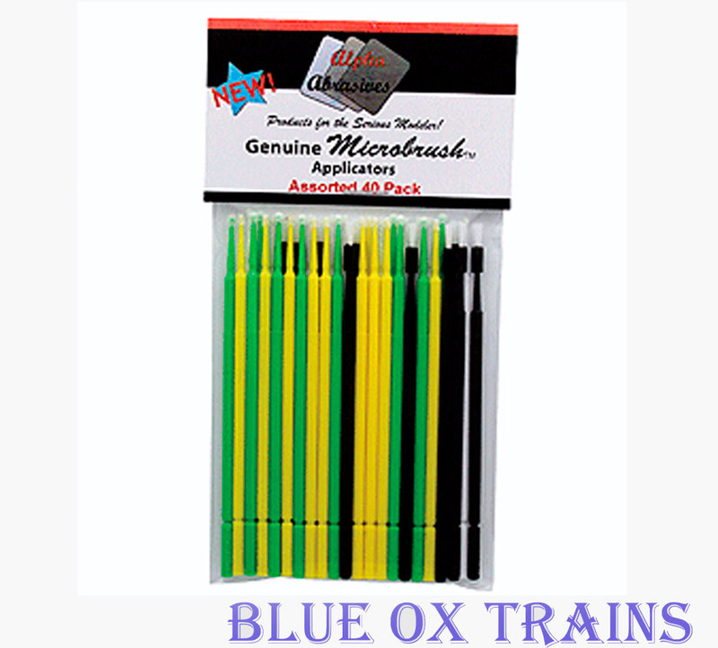 Creations Unlimited 1400 Microbrush Assorted Paint Brush Applicator 40 pack