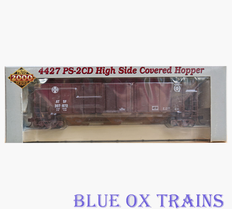 Proto 2000 21406 RTR Santa Fe 4427 PS-2CD Covered Hopper ATSF 307672 Ho Scale