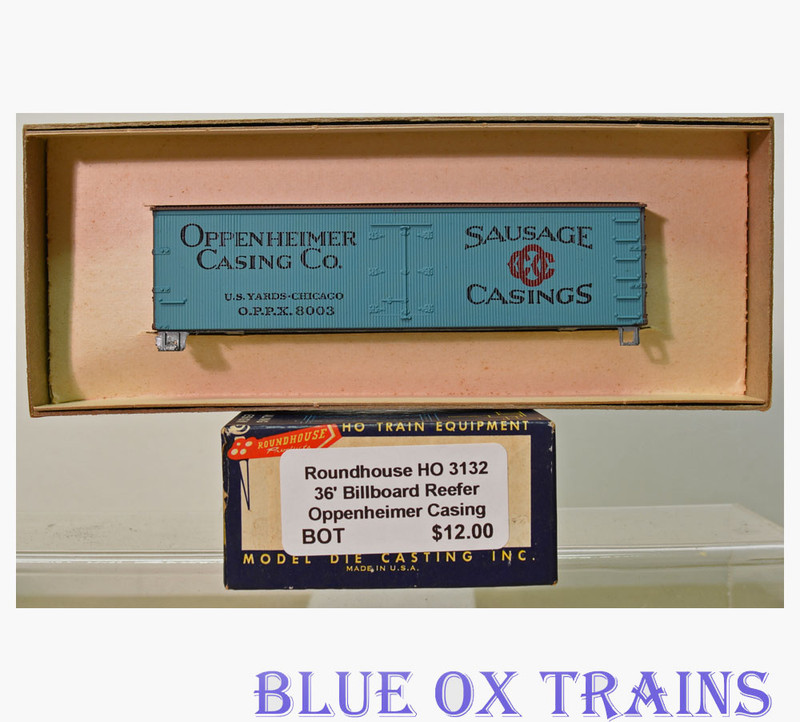 Roundhouse 3132 36' Billboard Reefer Oppenheimer Casing Co. OPPX 8003 HO Scale Kit