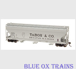 InterMountain 47081 Tabor & Co. 4650 Covered Hopper HO Scale