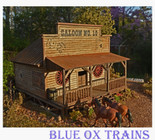 Saloon No. 10 Scratch Built and Weathered HO Scale