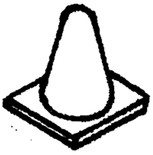 Details West 278 Radio Antenna Cone Type pkg(2) HO Scale