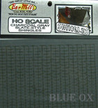 BAR MILLS 223 HO Scale Shingles Charcoal Gray Slate Laser Cut