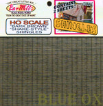 BAR MILLS 221 HO Scale Shake Shingles Bark Brown Laser Cut