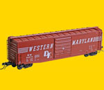 Kadee 6334 K62 Western Maryland 50' PS 1 Boxcar 10' door WM 35073