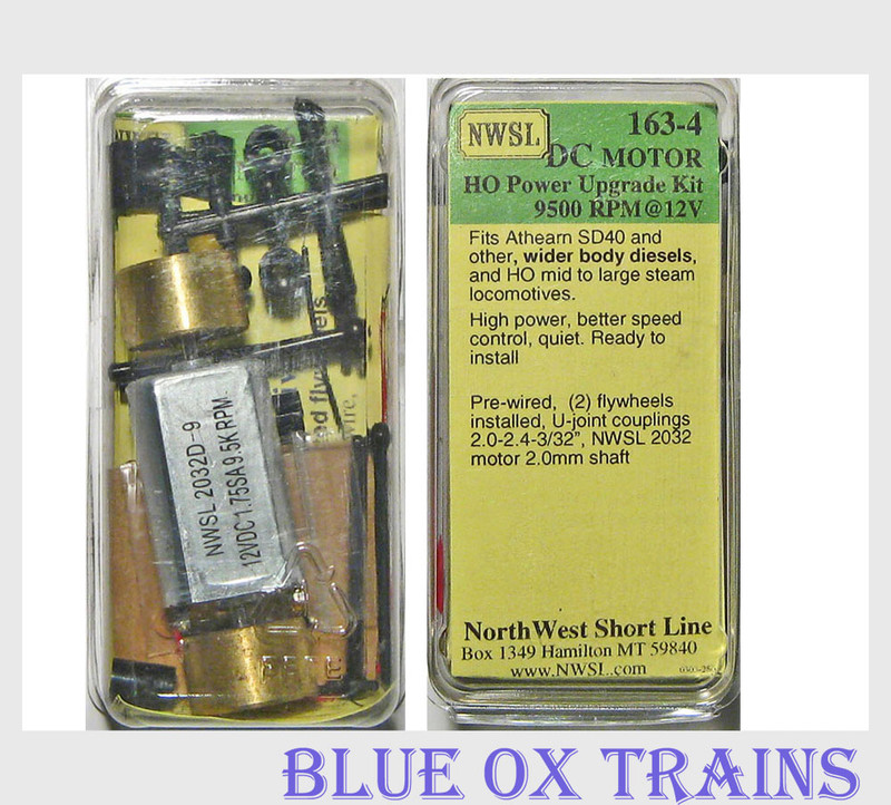 NWSL 163-4 2030D-9 Power Upgrade Can Motor Kit Athearn Wide Body F7 PA  SD40 Etc.
