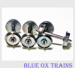 """Intermountain 40055 HO Scale 33"""" Nickel Plated Brass Wheelsets Pack of 12 axles"""