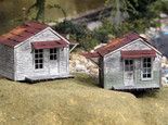 Bar Mills 702 HO Scale Twin Utility Sheds Laser Cut Structure Kit