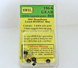 NWSL #186-6 HO/HOn3 MDC 2 TRUCK SHAY UPGRADE GEARS