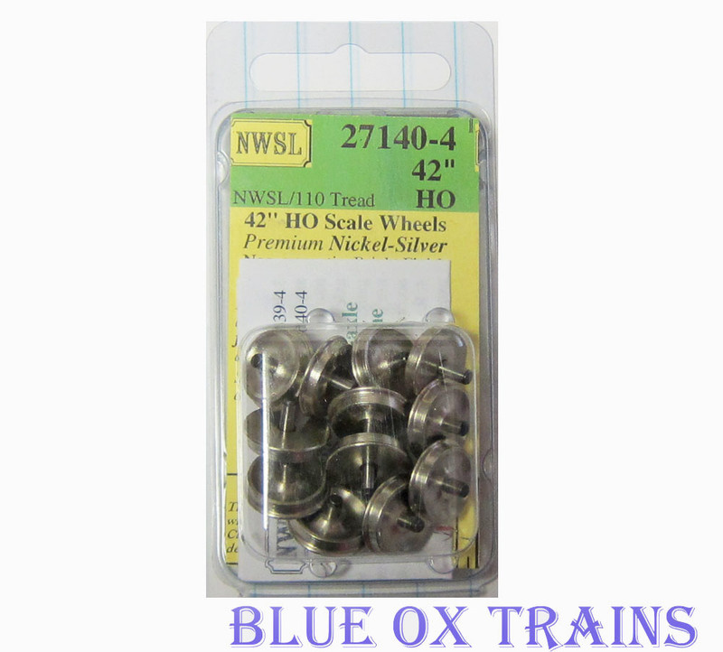 "Northwest Short Line 27140-4 NWSL HO Athearn 3/32"" Half-Axle 42"" Wheelsets"