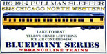 BRANCHLINE 5225 HO 10-1-2 PULLMAN KIT LAKE FOREST CNW