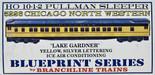 BRANCHLINE 5226 HO 10-1-2 PULLMAN KIT LAKE GARDNER CNW