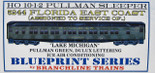 Branchline HO Florida East Coast 10-1-2 Pullman Lake Michigan FEC Kit 5244