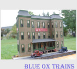Nick & Nora Designs STO17 HO Scale Sycamore Springs Hotel Back Ground Building Laser Cut Structure Kit