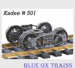 "Kadee 501 HO Scale Arch Bar Trucks 33'"" Ribbed Back Wheel Sets"