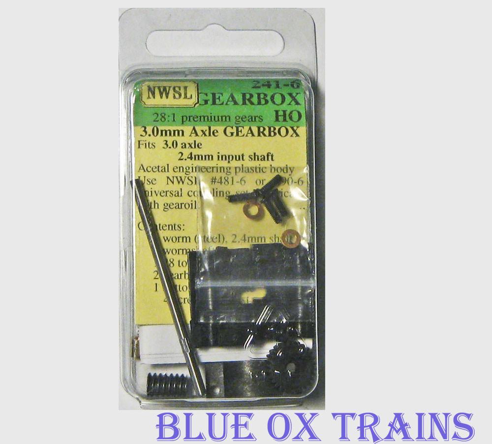Northwest Short Line 241-6 28-1 0 4 mod GEARBOX KIT 3mm Axle NWSL