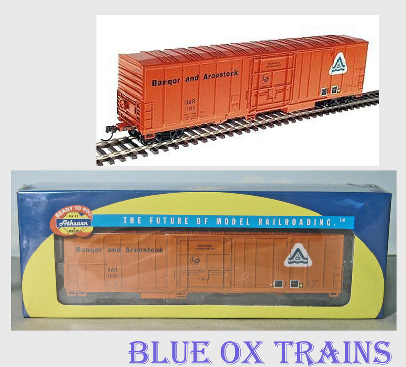 Athearn 7102 R52 HO Scale 57' Mechanical Reefer Bangor & Aroostook BAR