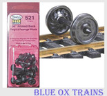 "Kadee 521 HO Scale 36"" Ribbed Back Passenger Car Wheel Sets"
