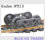 Kadee 513 HO Scale ASF 100 Ton Roller Bearing Sprung Metal Trucks