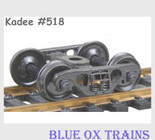 KADEE 518 HO Scale Barber S-2 70 Ton Roller Bearing Freight Car Trucks