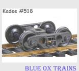 KADEE 518 HO Scale Barber S-2 70 Ton Roller Bearing Freight Car Trucks