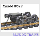 Kadee 512 HO Scale Bettendorf T-Section Trucks With Couplers