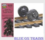 "KADEE 523 HO Scale 33"" Ribbed Back Freight Car Wheelsets"