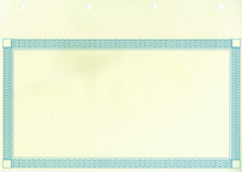 Share Certificate with perforated counterfoil and blue border