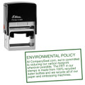 Shiny Self Inking Rubber Stamp 60mm x 33mm