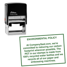 Shiny Rubber Stamps / Self Inking Rubber Stamps 60mm x 40mm. We make the best custom rubber stamps.