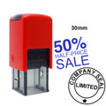 Shiny Rubber Stamp / Professional Self Inking Rubber Stamp 30mm x 30mm. We make the best custom rubber stamps. The best quality.