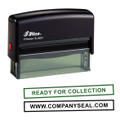 Shiny Self-Inking Rubber Stamp (68mm x 8mm)
