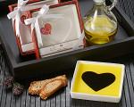 Heart Olive Oil & Balsamic Vinegar Dipping Dish
