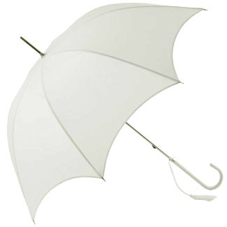 Dainty Wedding Umbrella - White