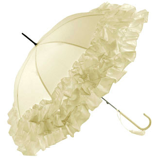 Frill Edge Umbrella - Ivory