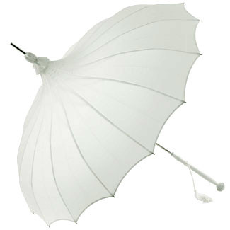 Pagoda Umbrella White