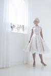 Beautiful Tea Length Blush Wedding Dress