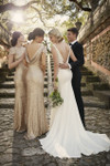 The perfect choice of bridesmaid to compliment an elegant wedding dress