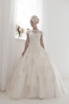 Pictured in a full ball gown - Marie Me sample dress is in the Tea-Length Version.