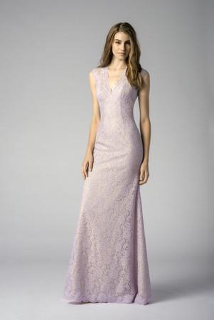 V-Neck Bella Lace dress in Blue Harbor colour.