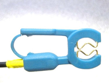 Nihon Kohden Clip Electrode w/gold contacts & mini plug NEW