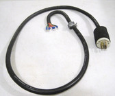 Hubbell 231A Twist lock Plug 277/480V,20A,6ft 14/5 SO Neoprene MSHA Power Cable