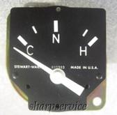 Stewart Warner Temperature Gauge C-N-H 7660P880061-1 FREIGHT TRUCK SEMI 12V gage