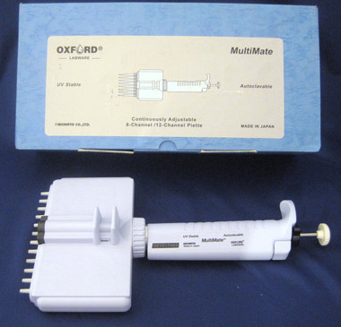 Oxford MultiMate Multi 12 Channel 0.5 - 10uL Autoclavable, Digital Micro Pipette