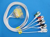 AMC&E LWM-309DS50/5AT 5-Lead Disposable DIN - Pinch Shield Cable w/AMCE Combiner