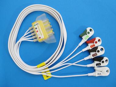 AMC&E LWM-309DS50/5AT 5-Lead Disposable DIN - Pinch Shield Cable w/AMCE Combiner
