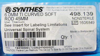 SYNTHES TI CURVED SOFT ROD, TITANIUM,