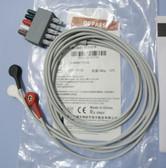 MINDRAY EL6301B ECG EKG Cable 3-LEAD Snap/Button