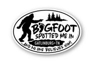 Wholesale Pointing Bigfoot Spotted Me Sticker