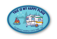 Wholesale Happy Place Sticker